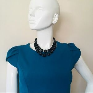 Double strand beads necklace